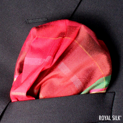 Cinnamon Plaid Taffeta