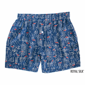 Blue City Lights Silk Boxers