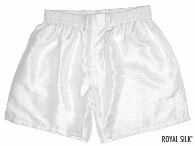 Cool White Silk Boxers