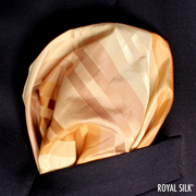 Copper Gold Stripes Taffeta