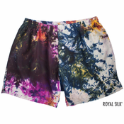 Purple Crimson Tie Dye Silk Boxers