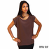Deep Brown Silk Crepe