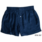 Deep Navy Silk Boxers