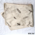 EMBROIDERED GOLDEN BEIGE SILK HANDKERCHIEF