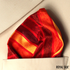 Fire Gold Stripes Taffeta