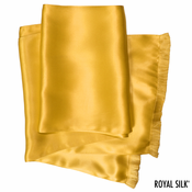 Gold Silk Aviator Scarf