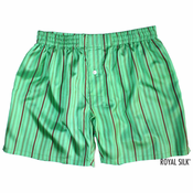 Green Island Stripes Silk Boxers