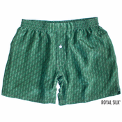 Green Paisley Silk Boxers