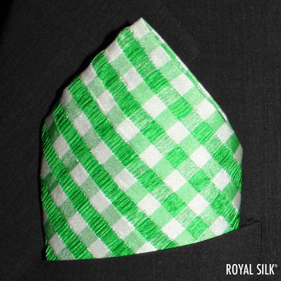 Green White Seersucker Checks