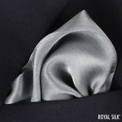 Grey Satin Silk
