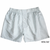 Grey White Checks Silk Boxers
