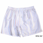 Dream White Pastel Stripes Silk Boxers
