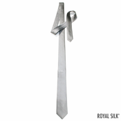 Light Grey Skinny Silk Tie