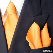 Mango Royal Silk Tie And Pocket Square Set
