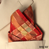 Maroon Gold Plaid Taffeta