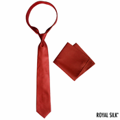 Maroon Royal Silk Tie And Pocket Square Set