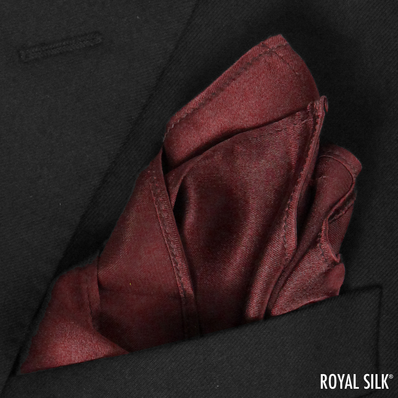 Maroon Satin Silk