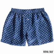 Navy Dot Silk Boxers