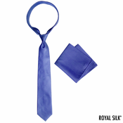 Navy Royal Silk Tie And Pocket Square Set