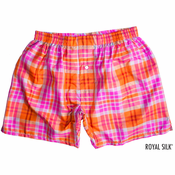Pink Orange Sherbet Silk Boxers