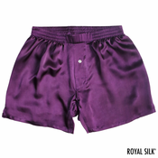 Purple Amethyst Satin Silk Boxers