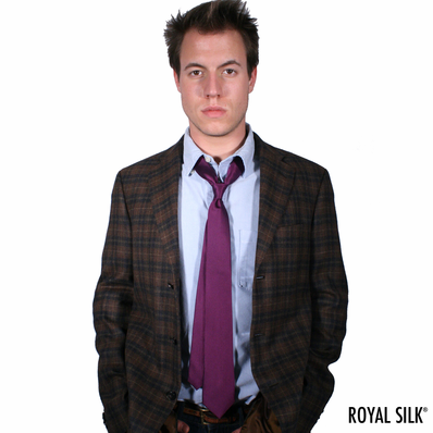 Purple Skinny Silk Tie
