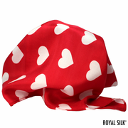 Red Silk Hearts Pocket Square