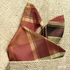 Rich Hazel Brown Green Plaid Teffeta