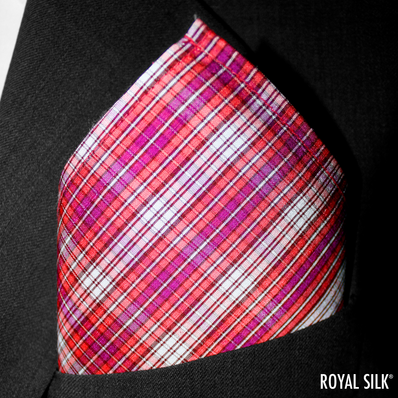 Rose Purple Checks Taffeta