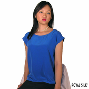Royal Blue Silk Crepe