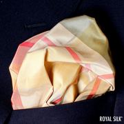 Rust Green Gold Plaid Taffeta