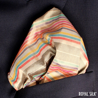 Sahara Gem Stripes Taffeta