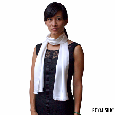 Silk Aviator Scarf for Women