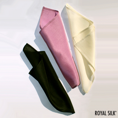 Set of Three Silk Hankies