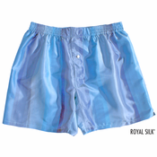 Sky Blue Stripes Silk Boxers