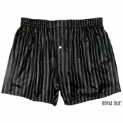 Sexy Stripes Noir Silk Boxers
