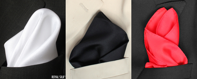 Twill Silk Pocket Square Set