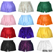 TWO SOLID SILK BOXERS - CHOOSE YOUR COLORS
