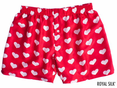 Red Silk Hearts