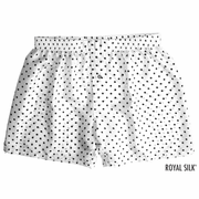 White Polka Dot Silk Boxers