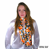 Wild Orange Silk Scarf