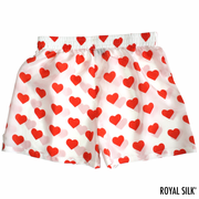 Womens Silk Hearts