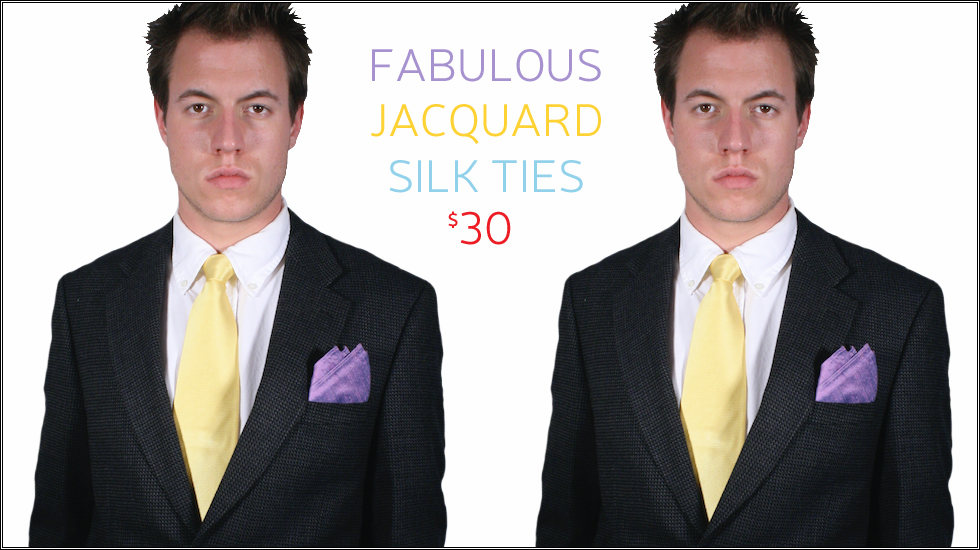 Yellow Silk Tie