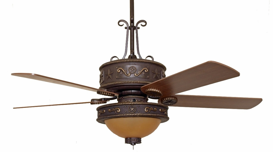 (CC-KWST-LK515AMB) Western Star Ceiling Fan with Light Kit