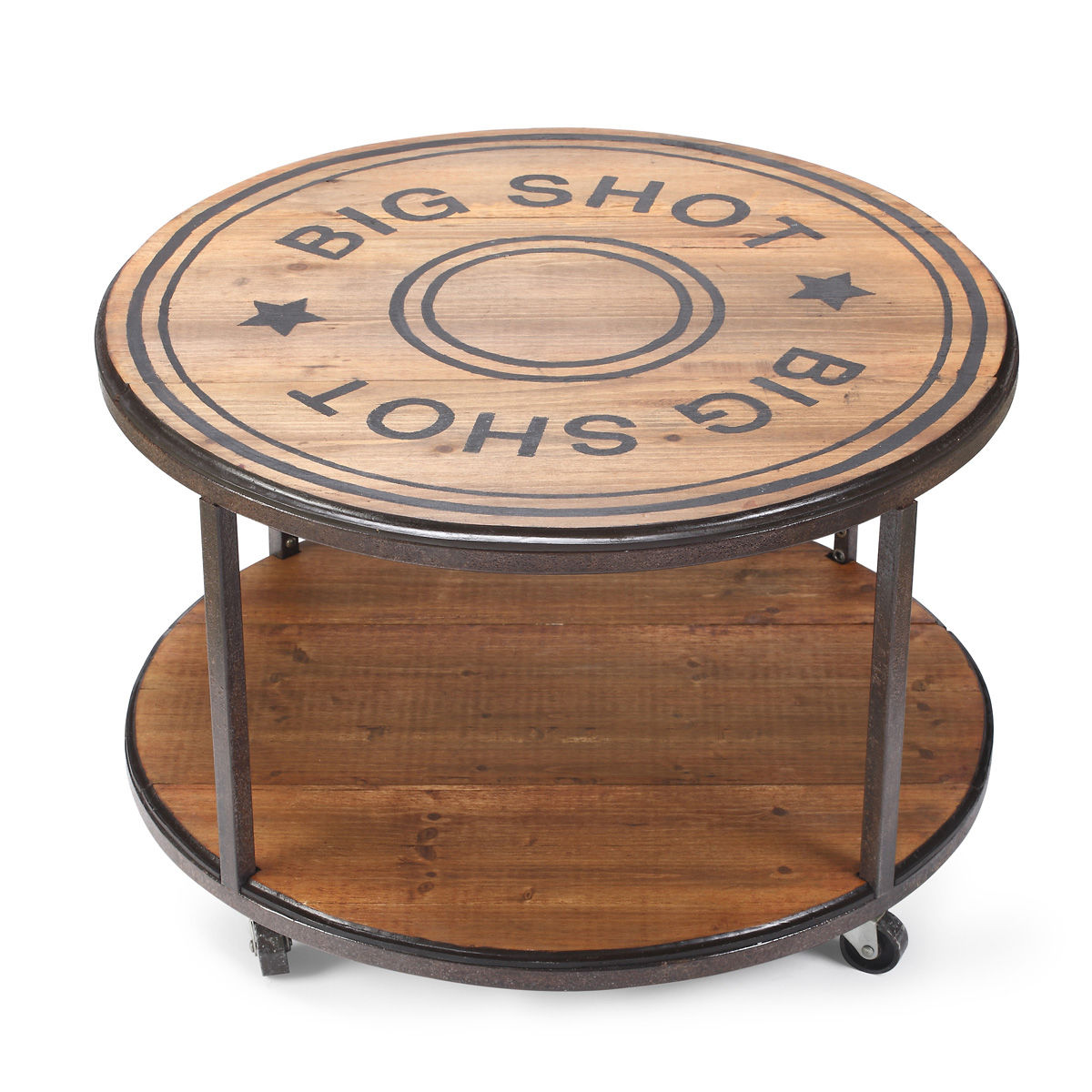 DM Big Shot Round Coffee Table with Wheels