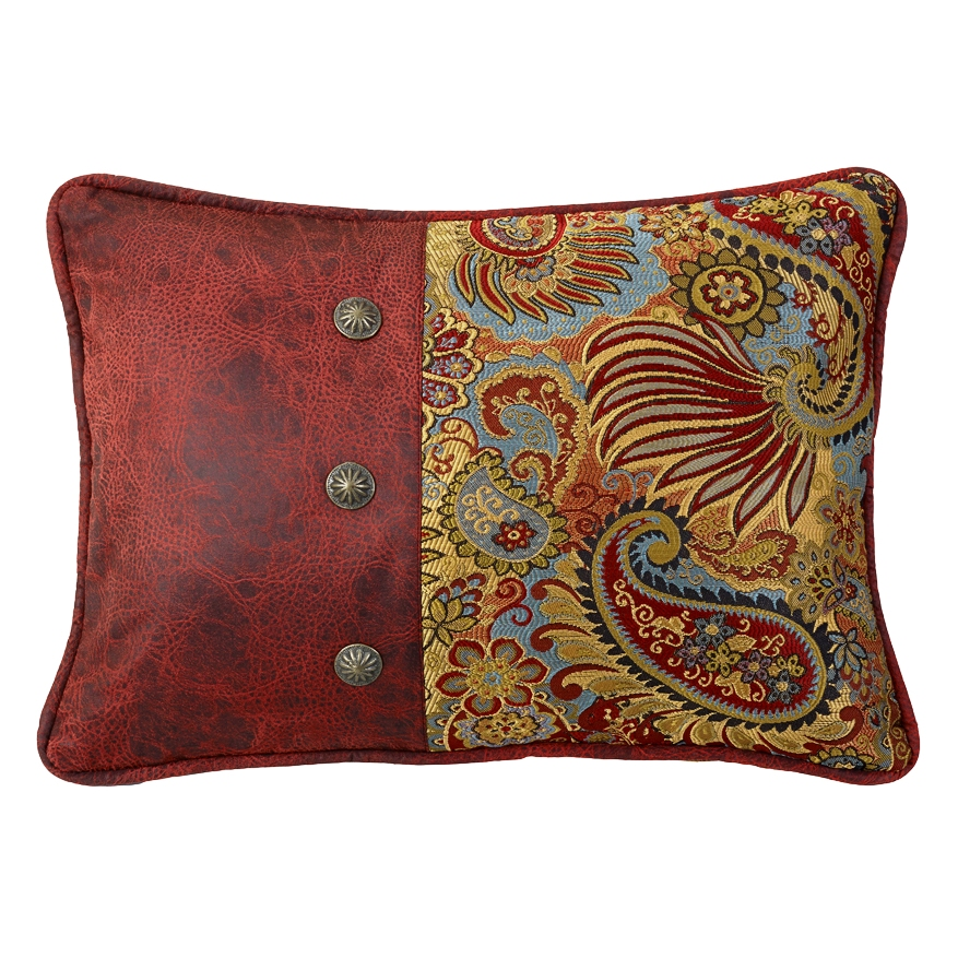 Decorative Western Throw Pillows : (HXWS4287P4) San Angelo Western Paisley Decorative Pillow 16 x 21