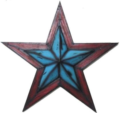 Mwrsm091 Turquoise Lone Star Wall Decor