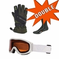 DOUBLE Holiday Bundle - 2 sets of Goggles, Gloves and Socks