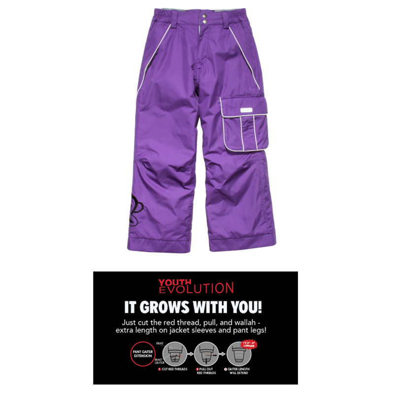 New 686 Paul Frank Julius Insulated Girls Ski Pants Grape