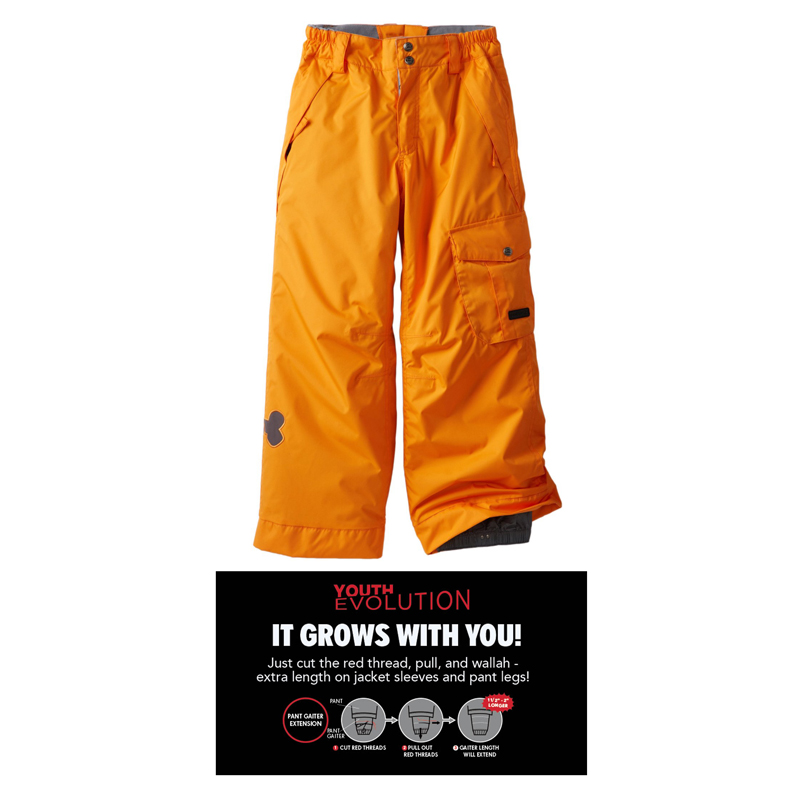 New 686 Paul Frank Skurvy Insulated Boys Ski Pants Orange